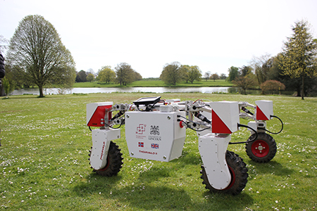 LIAT Thorvald soil-sampling vehicle. Credit: University of Lincoln Institute of Agri-food Technology (LIAT)